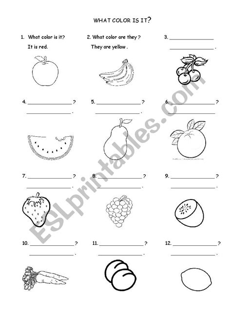 colors and what they what color is it what color are they esl worksheet
