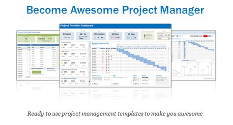 excel project management template excel project portfolio management templates