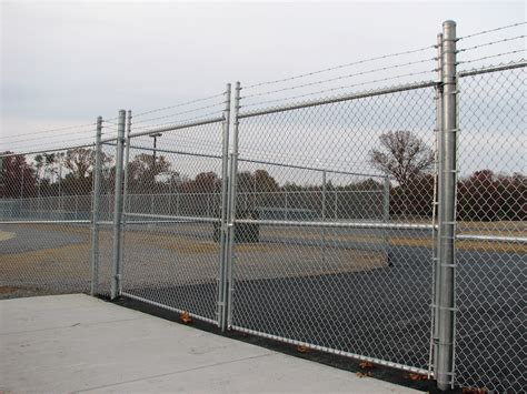 chain link swing gate custom gates knoxville maryville and lenoir city tn