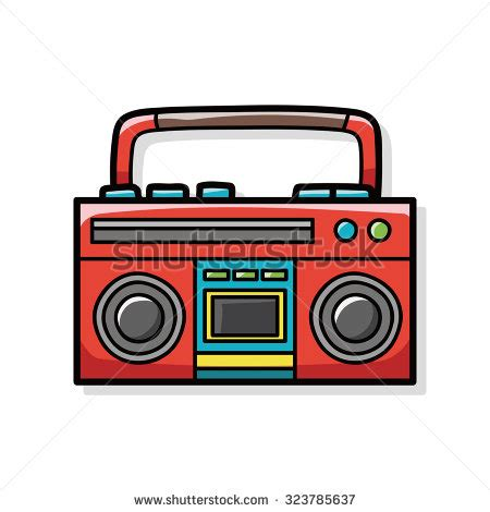 doodle radio radio doodle stock vector 342058772