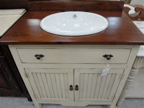 Best value solid wood 35 quot wainscot antique vanity with sealed wood top discover