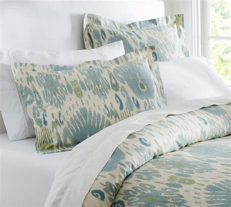 Ikat Quilt Cover by Ikat Duvet Cover Sham Blue Pottery Barn