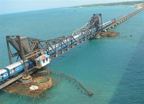 ram setu rameshwaram photos rameswaram express on its way from the mainland to
