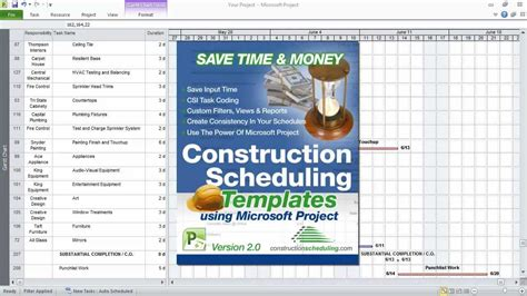 construction project planning template construction scheduling templates using microsoft project