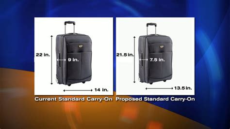 what is the allowed carry on bag and check in baggage rate trade group aims to shrink size of carry on bags allowed
