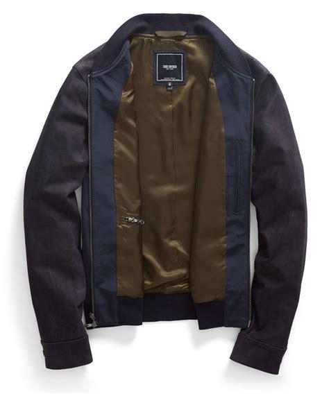 Parka Jacket Sweater Jaket Jaket Bomber Jaket Wanita todd snyder leather bomber jacket in blue for lyst