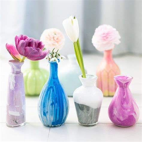 How To Paint A Glass Vase With Acrylic Paint English Vases And Acrylics On Pinterest