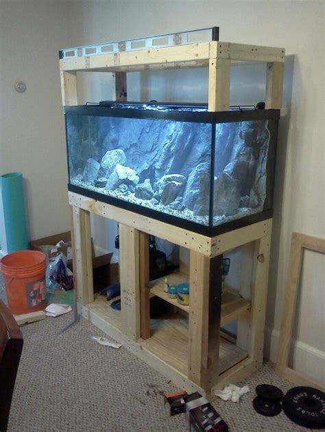 aquarium design homemade building aquarium stand 75 gallon beared dragon