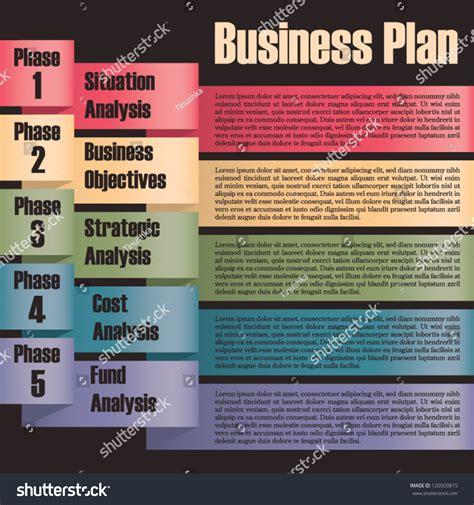 Business Plan Modern Design Template Presentation Stock Vector 120503815 Shutterstock Business Layout Template