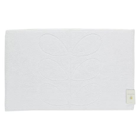 White Bath Mat by Buy Orla Kiely Stem Jacquard Bath Mat White Amara
