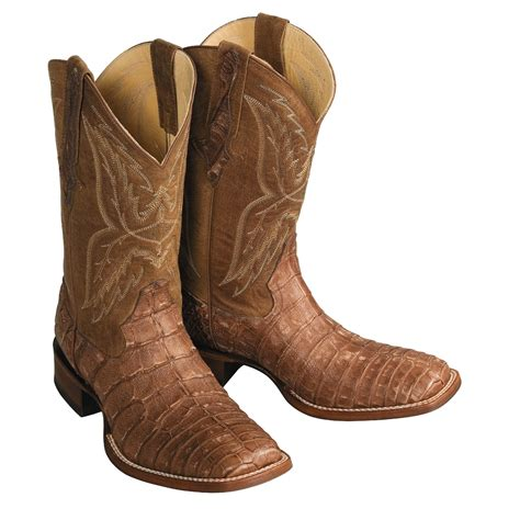 h boots s h caiman alligator western boots for 48824
