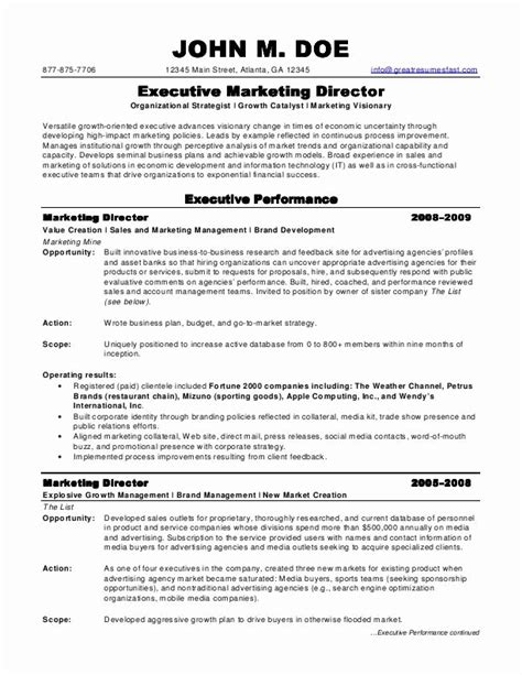 sle marketing director resume marketing director resume jvwithmenow