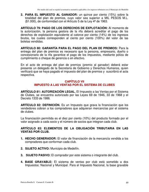 Acuerdo 64 De 2012 Esu   acuerdo 64 de 2012 estatuto tributario aprobado por el