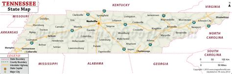 tennessee usa map tennessee state map