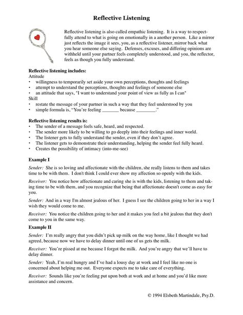 Skills Worksheet Active Reading by Uncategorized Active Listening Skills Worksheets