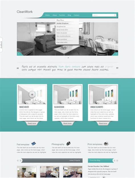 free portfolio psd web template clean work templates