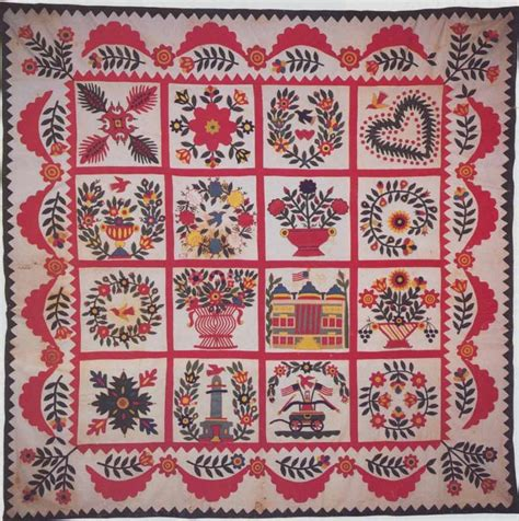 Baltimore Album Quilt by Baltimore Album Quilt C 1850 Maryland Quilts Vintage