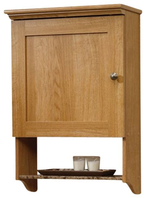 Sauder Kitchen Furniture Sauder Sundial Wall Cabinet In Highland Oak Transitional