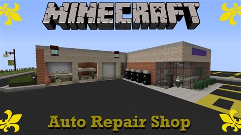 how to build a shop minecraft auto repair shop suburbcraft ep 72 youtube