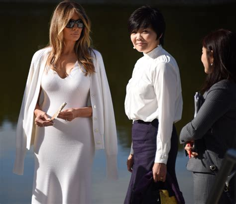 PHOTOS   Melania Trump Outclassed At Morikami By Japanese Prime Minister's Wife!   Gossip Extra