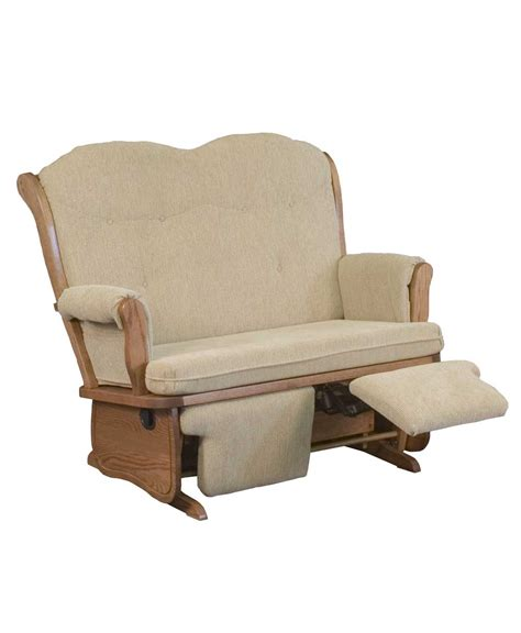 loveseat glider rocker swan back loveseat glider amish direct furniture