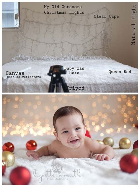 photography set ideas diy easy christmas lights background