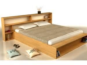 lit en bois avec t 234 te rangement slim by cinius