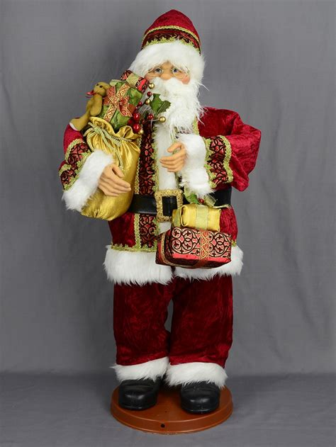 singing dancing santa with sack musical animation 95cm