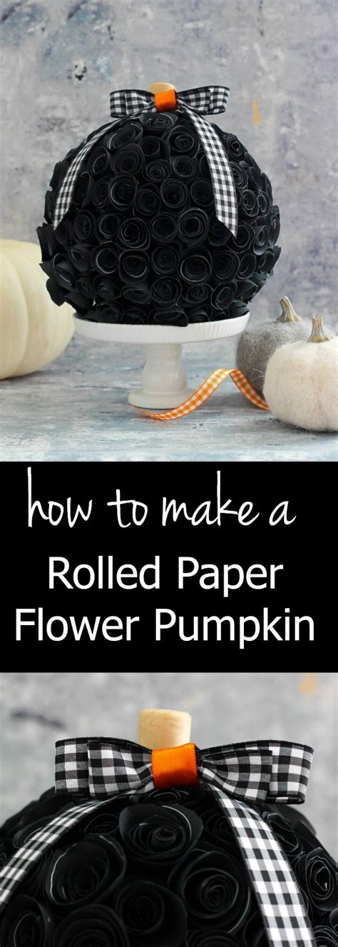 How To Make Rolled Paper Flowers - rolled paper flower pumpkin