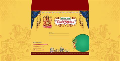 Marriage Invitation Cover by Indian Wedding Card Invitation Psd Templates Free