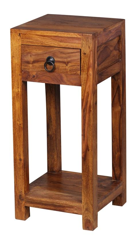 Telephone Table With Drawer by Wohnling Sheesham Solid Wood Side Table Telephone Table