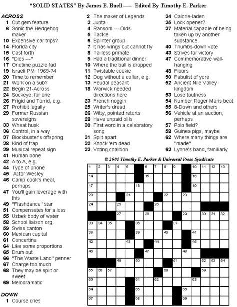 printable puzzles to solve crossword puzzles to print and solve volume 25