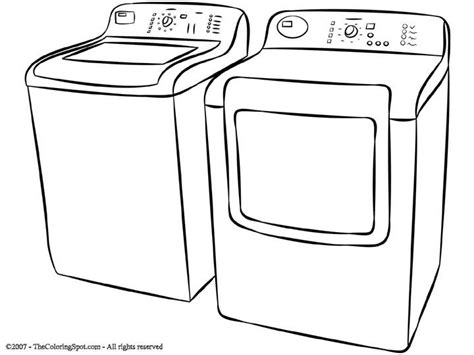 washing machine coloring page washer and dryer free coloring pages