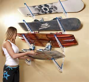 wakeboard storage rack his office