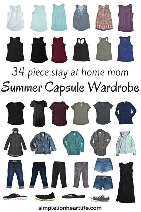 minimalist capsule wardrobe summer capsule wardrobe stay at home mom 2017 summer