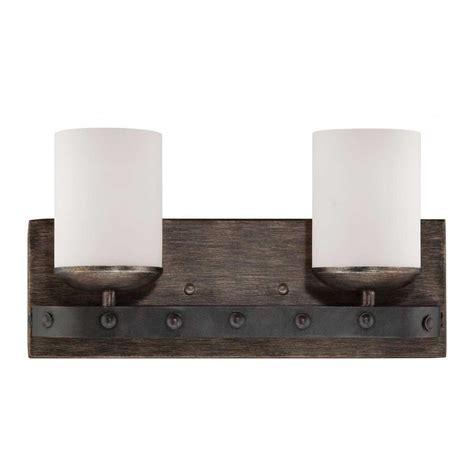 Industrial Vanity Light Filament Design Euboea 2 Light Industrial Steel Bath Vanity Light Cli Sh0242847 The Home Depot