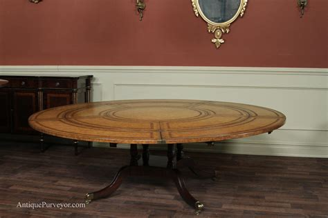 Dining Room Tables With Extension Leaves by Maitland Smith Leather Top Large Round Dining Table With