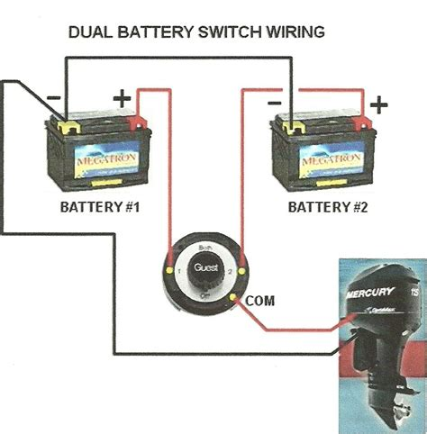 2 battery boat wiring diagram html cycle boat battery