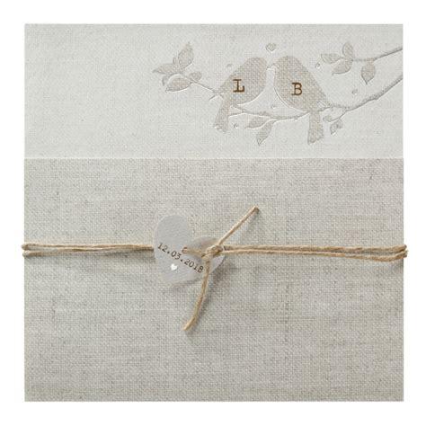 Hochzeitseinladung Vogel by Naturell Hochzeitseinladung Mit V 246 Gel Auf Strukturpapier