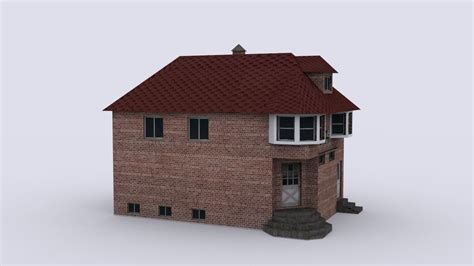 3d model ad house exterior cgtrader brick house 3d model game ready max cgtrader com