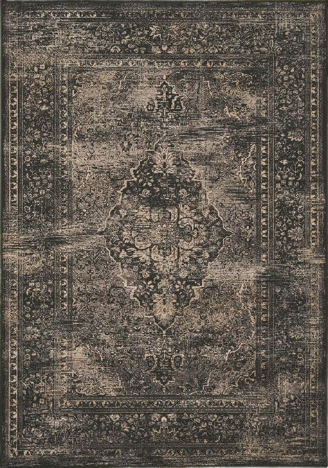 cloth rug antika black world 67 quot floor cloth rug from kalora h311 112 170240 coleman furniture