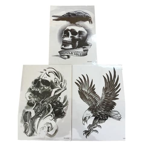 eagle henna tattoo designs 3pcs flying eagle henna gun skull 3d