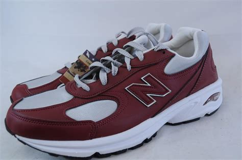 what are athletic shoes made of new balance m498br 498 burgundy grey white lightweight