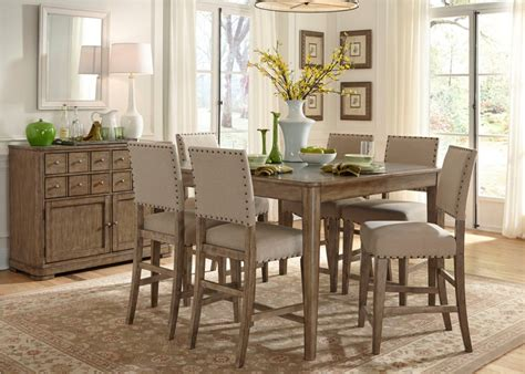 Dining Room Sets Grey Liberty Furniture Weatherford 7 Gathering Table