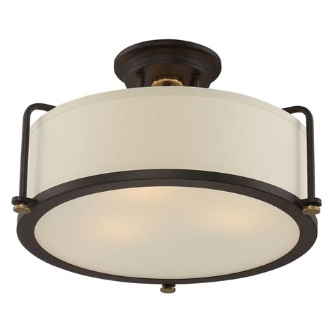 Western Lighting Fixtures Quoizel Lighting Quoizel Fixture Western Bronze Semi