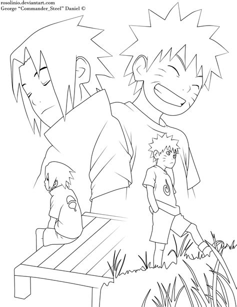 naruto and sasuke lineart by kryptonstudio on deviantart naruto and sasuke lineart by rosolinio on deviantart