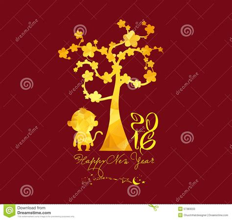 new year golden monkey new year 2016 monkey with golden geometrical