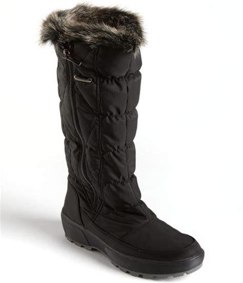 pajar fur boots pajar june fauxfur lined boots in black lyst