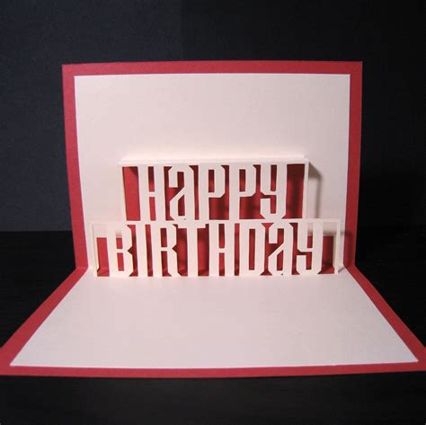 happy birthday word pop up card template happy birthday pop up card