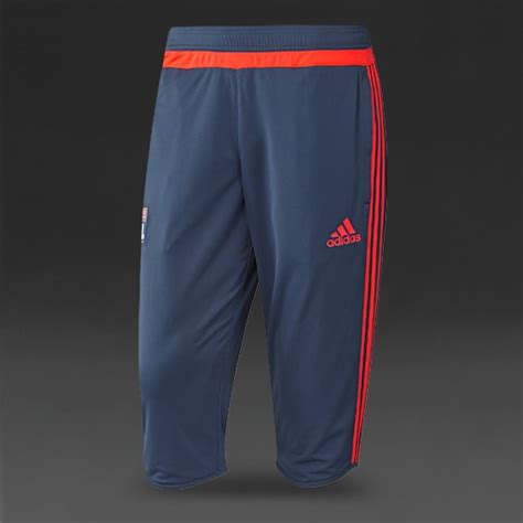 adidas lyon  training  pants mens replica night marinesolar red